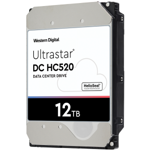 "HDD 12TB WD Ultrastar DC HC520 3.5"" SATAIII 256MB, Наследник на WD Gold (5 years warranty)"