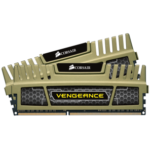 Памет Corsair DDR3, 1600MHz 16GB (2 x 8GB) 240 Dimm, Unbuffered, 9-9-9-24, Vengeance Military Green Heatspreader, Core i7, Core i5 and Core 2/AMD Phenom II - Dual Channel, 1.5V