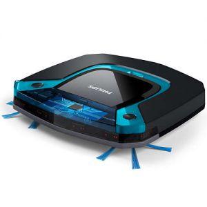 Philips Прахосмукачка-робот SmartPro Easy, Ултратънък дизайн, 3-степенна система за почистване, Мокро почистване