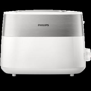 Philips Тостер Daily Collection,  8 настройки, Компактен дизайн, бял