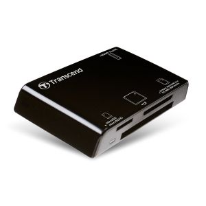 Четец за флаш карта Transcend All-in-1 Multi Memory Card Reader, USB 2.0 for CF, SD/SDHC, MMC, MMCplus, RS-MMC, MMCmobile and MMCmicro, microSD/microSDHC and Memory Stick series cards, Black