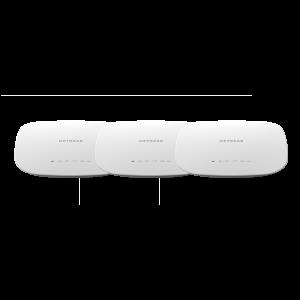 Комплект от 3 бр, Аксес пойнт, Netgear WAC540, Dual Band AC3000 (400 + 867 + 1733 Mbps) Access Point