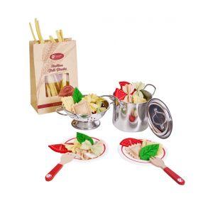 Детски дървен готварски комплект - паста