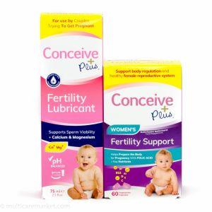 Пакет фертилност Консийв плюс - Витамини за жени + Лубрикант за забременяване 75 мл