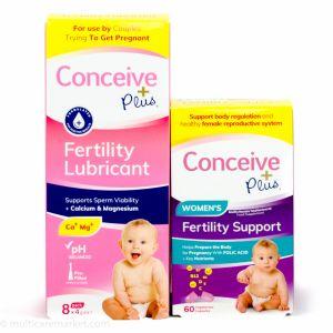 Пакет фертилност Консийв плюс - Витамини за жени + Лубрикант за забременяване 8 бр х 4 мг