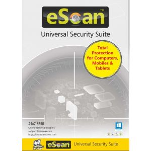 eScan Universal Security Suite (5-device License)