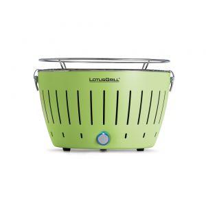 Преносимо барбекю на дървени въглища LotusGrill в зелен цвят
