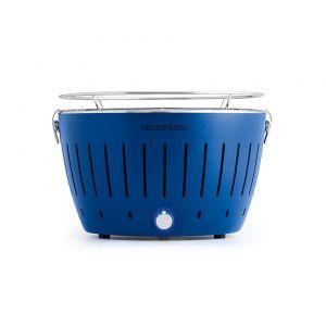 Преносимо барбекю на дървени въглища LotusGrill в син цвят