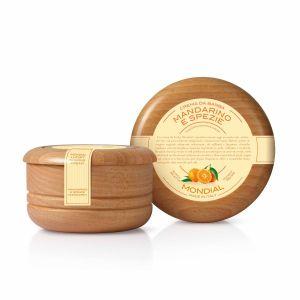 Крем за бръснене в купа от светло дърво аромат на мандарина 140ml