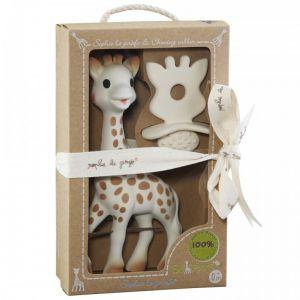 """Подаръчен комплект """"Софи жирафчето и чесалка за дъвчене"""" от колекцията """"So pure"""""""