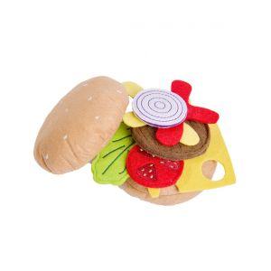 Текстилен хамбургер за игра