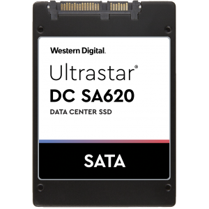"SSD WD Ultrastar DC SA620 480GB 2.5"" SATA III DATA CENTER SSD for Cloud and Hyperscale Data Centers 15nm MLC NAND, RI-0.6DW/D ISE, read-write: up to 512, 445, Random read-write: up to 76 000, 16 000 IOPS (0TS1810) 5 years warranty"