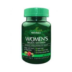 Натурални мултивитамини за жени Puremark Naturals 60 таблетки,  с добавени плодове и зеленчуци на прах
